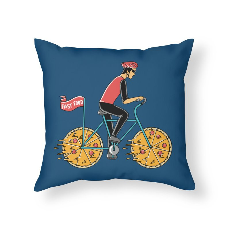Pizza Bicycle Home Throw Pillow by coffeeman's Artist Shop