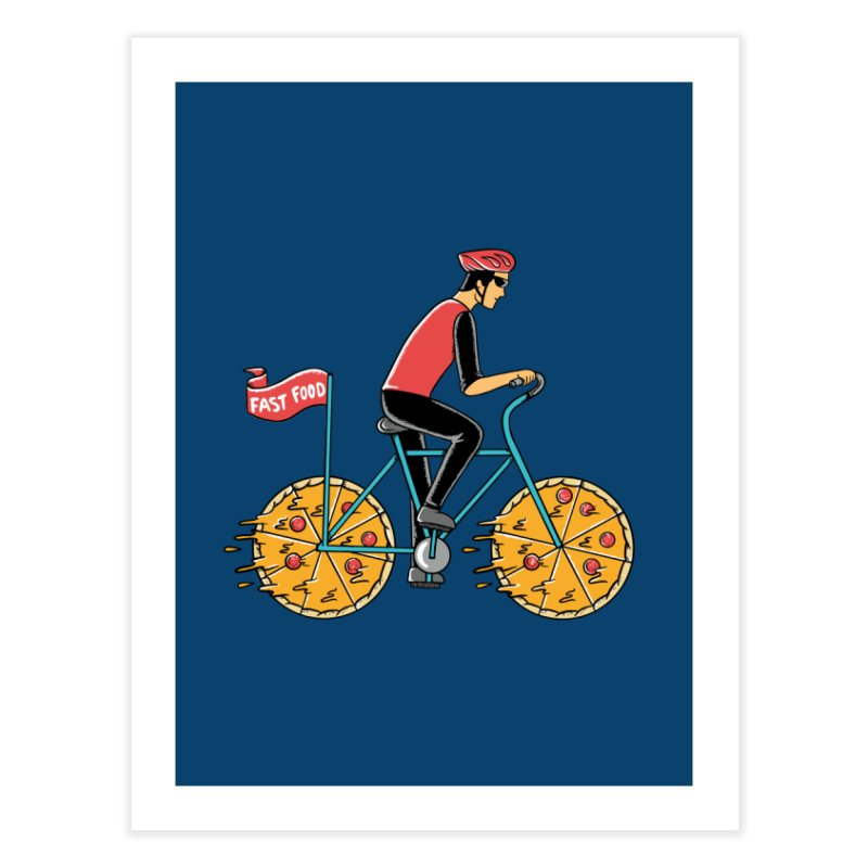 Pizza Bicycle Home Fine Art Print by coffeeman's Artist Shop