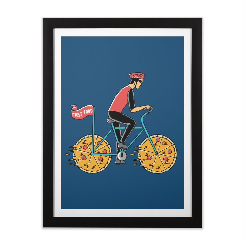 Pizza Bicycle Home Framed Fine Art Print by coffeeman's Artist Shop