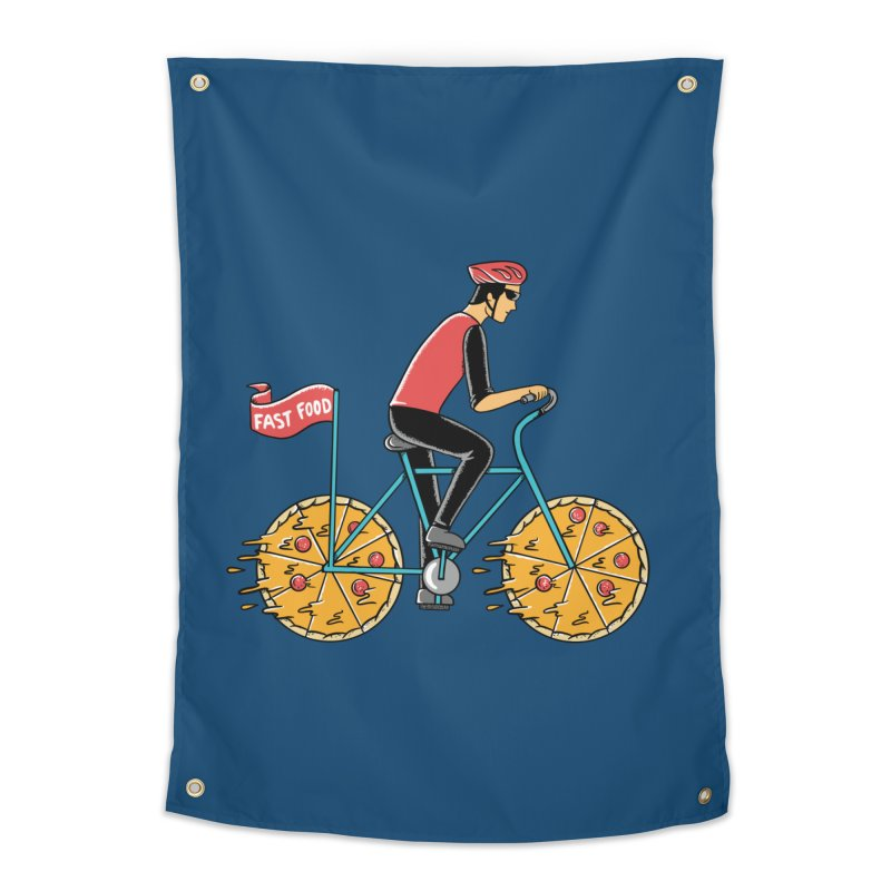 Pizza Bicycle Home Tapestry by coffeeman's Artist Shop