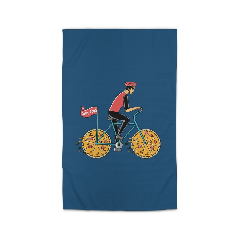 Pizza Bicycle Home Rug by coffeeman's Artist Shop