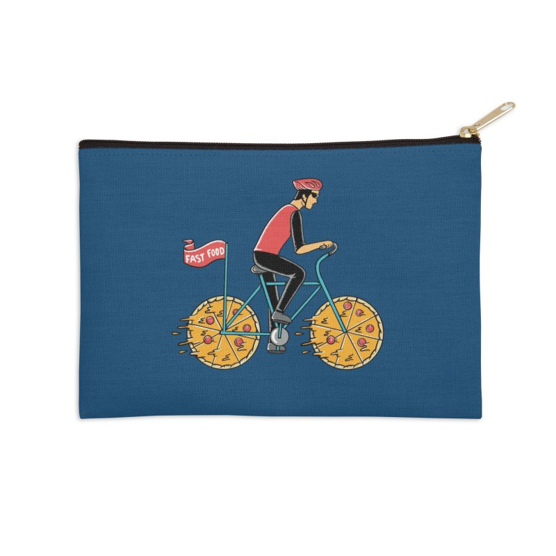 Pizza Bicycle Accessories Zip Pouch by coffeeman's Artist Shop