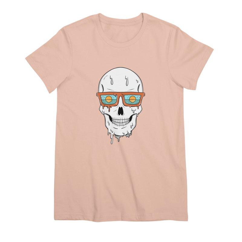 Skull Women's Premium T-Shirt by coffeeman's Artist Shop
