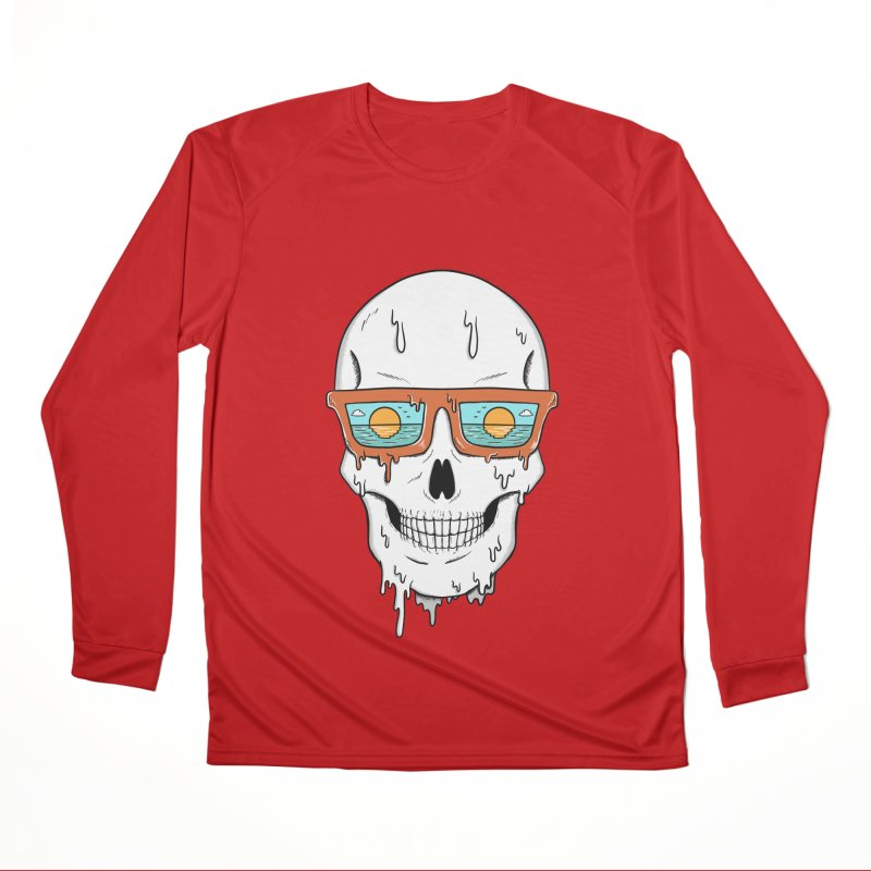 Skull Women's Performance Unisex Longsleeve T-Shirt by coffeeman's Artist Shop