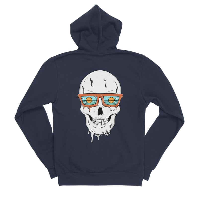 Skull Women's Sponge Fleece Zip-Up Hoody by coffeeman's Artist Shop
