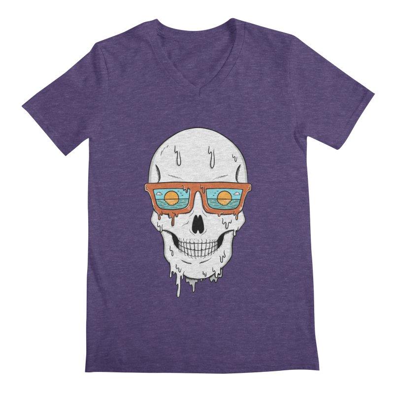 Skull Men's Regular V-Neck by coffeeman's Artist Shop
