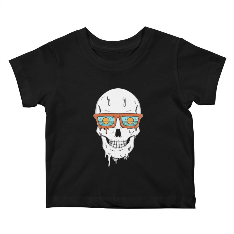 Skull Kids Baby T-Shirt by coffeeman's Artist Shop