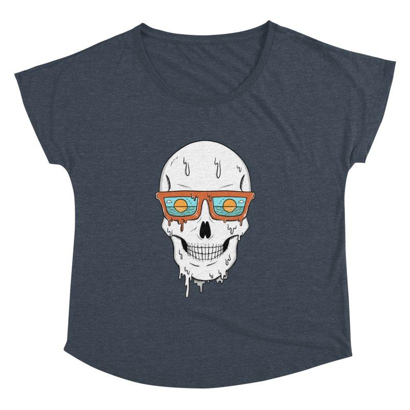 Skull Women's Dolman Scoop Neck by coffeeman's Artist Shop