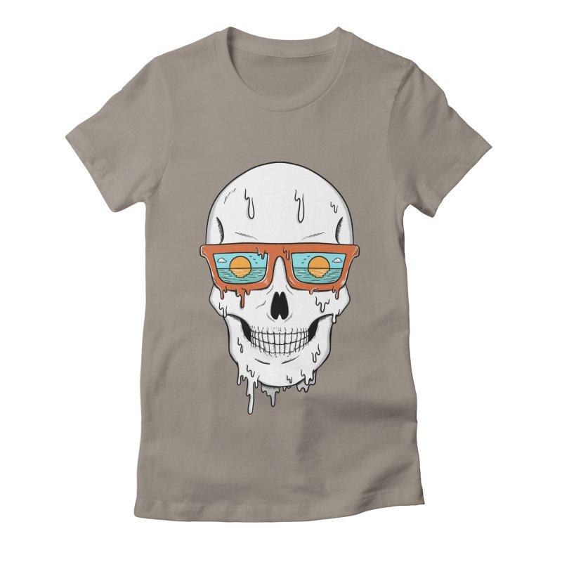 Skull Women's Fitted T-Shirt by coffeeman's Artist Shop