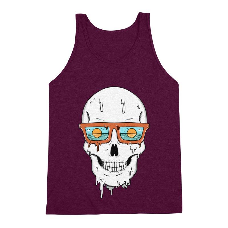 Skull Men's Triblend Tank by coffeeman's Artist Shop