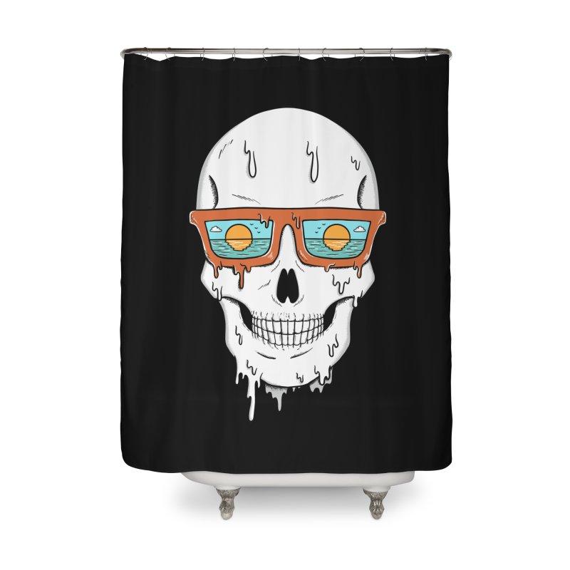 Skull Home Shower Curtain by coffeeman's Artist Shop