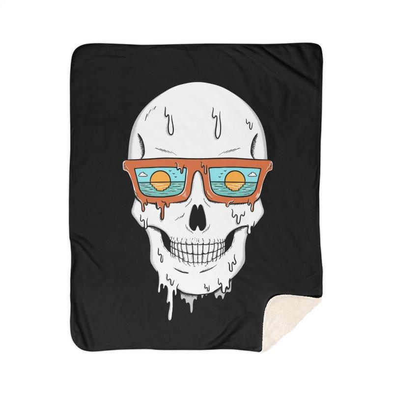 Skull Home Sherpa Blanket Blanket by coffeeman's Artist Shop