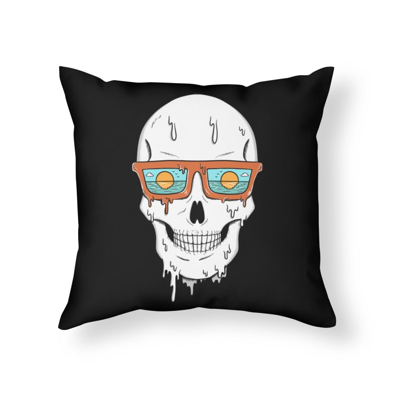 Skull Home Throw Pillow by coffeeman's Artist Shop