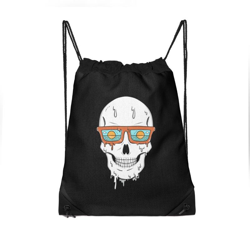 Skull Accessories Drawstring Bag Bag by coffeeman's Artist Shop