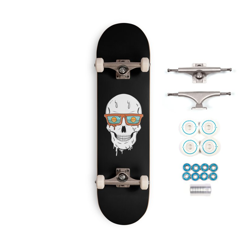 Skull Accessories Complete - Basic Skateboard by coffeeman's Artist Shop