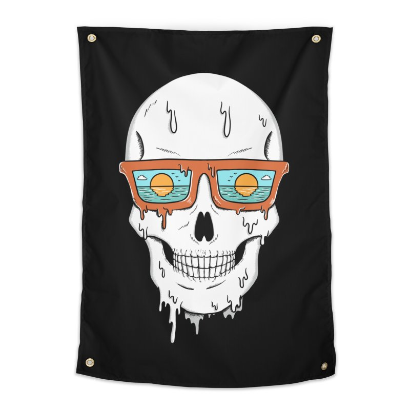 Skull Home Tapestry by coffeeman's Artist Shop