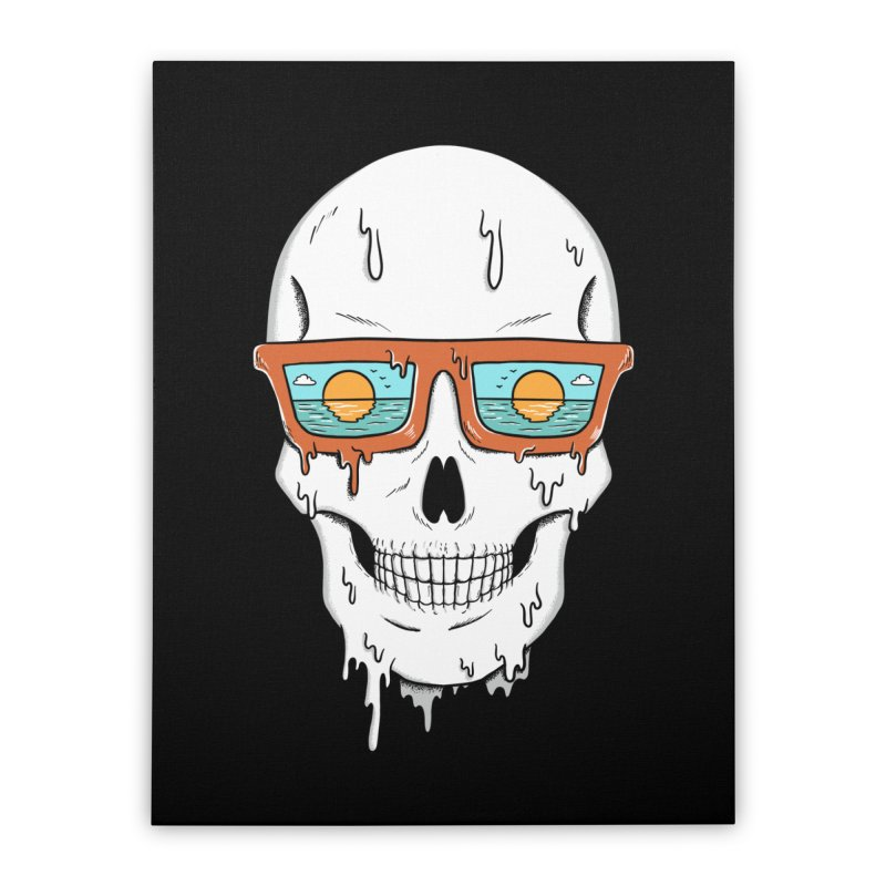 Skull Home Stretched Canvas by coffeeman's Artist Shop