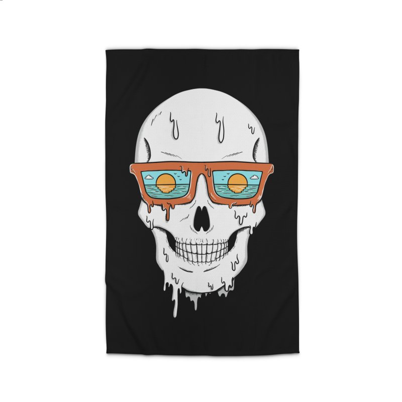 Skull Home Rug by coffeeman's Artist Shop