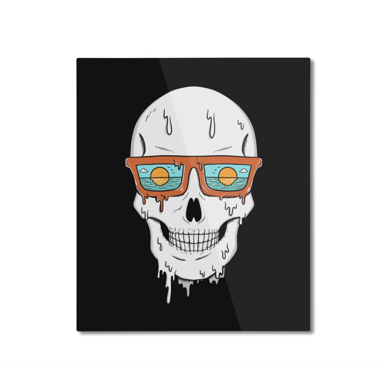Skull Home Mounted Aluminum Print by coffeeman's Artist Shop