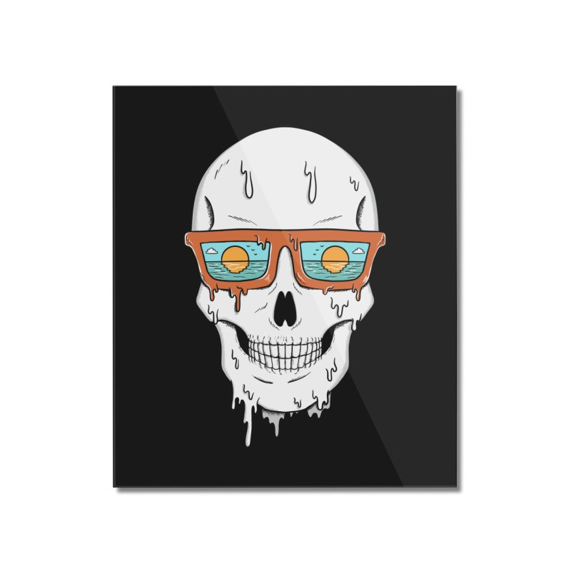 Skull Home Mounted Acrylic Print by coffeeman's Artist Shop