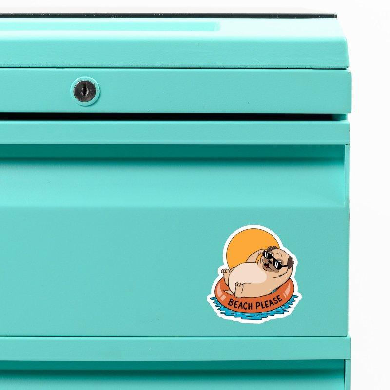Dog Pug Accessories Magnet by coffeeman's Artist Shop