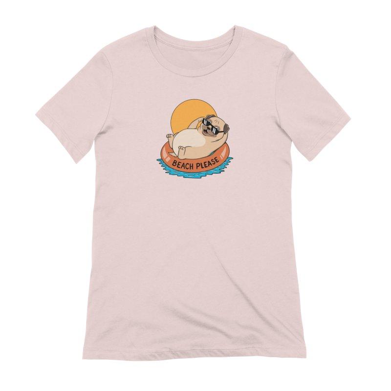 Dog Pug Women's Extra Soft T-Shirt by coffeeman's Artist Shop