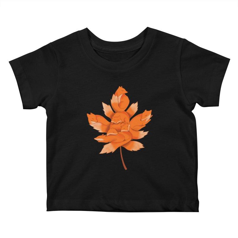Fox Kids Baby T-Shirt by coffeeman's Artist Shop