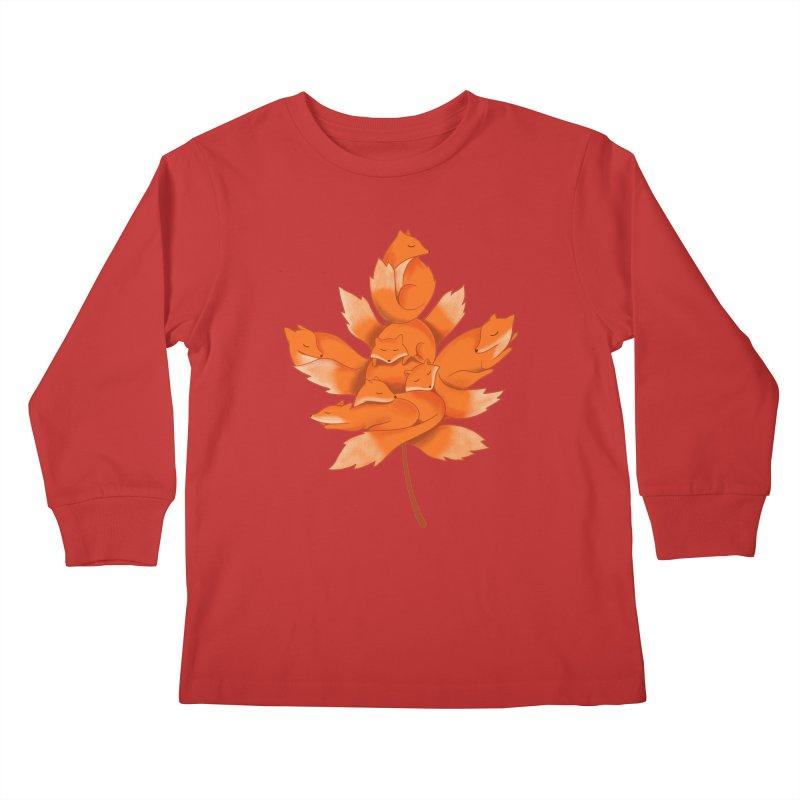 Fox Kids Longsleeve T-Shirt by coffeeman's Artist Shop