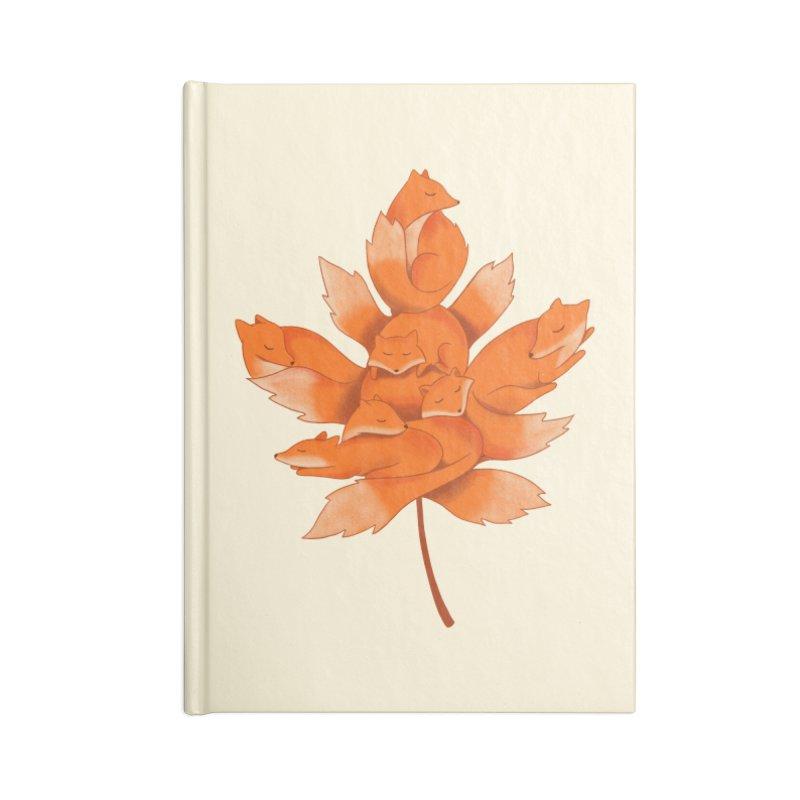 Fox Accessories Lined Journal Notebook by coffeeman's Artist Shop