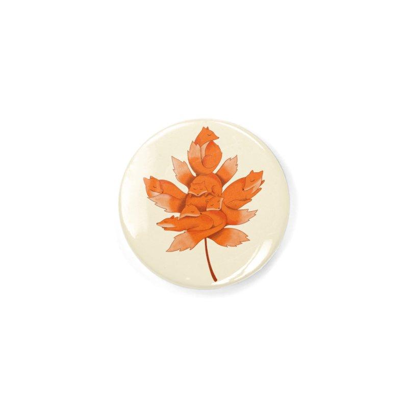 Fox Accessories Button by coffeeman's Artist Shop