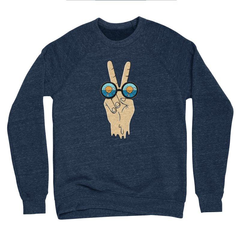Beach peace and love Women's Sponge Fleece Sweatshirt by coffeeman's Artist Shop