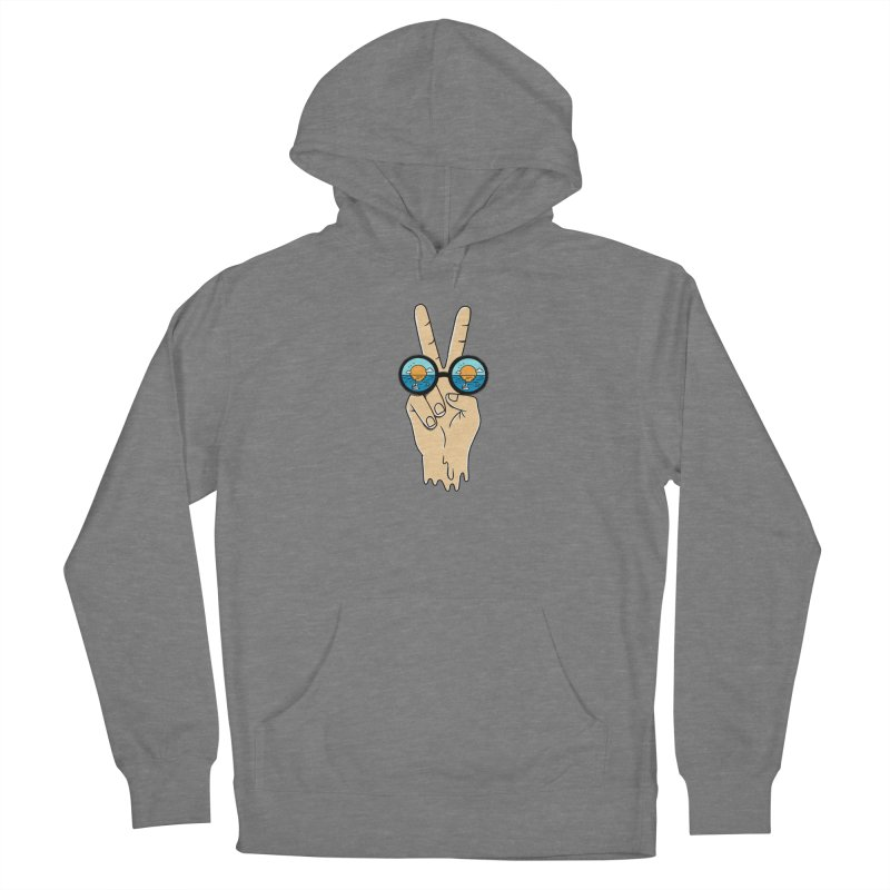 Beach peace and love Women's Pullover Hoody by coffeeman's Artist Shop