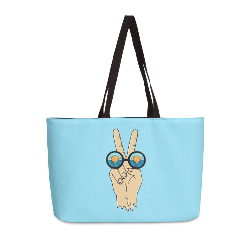 Beach peace and love Accessories Weekender Bag Bag by coffeeman's Artist Shop