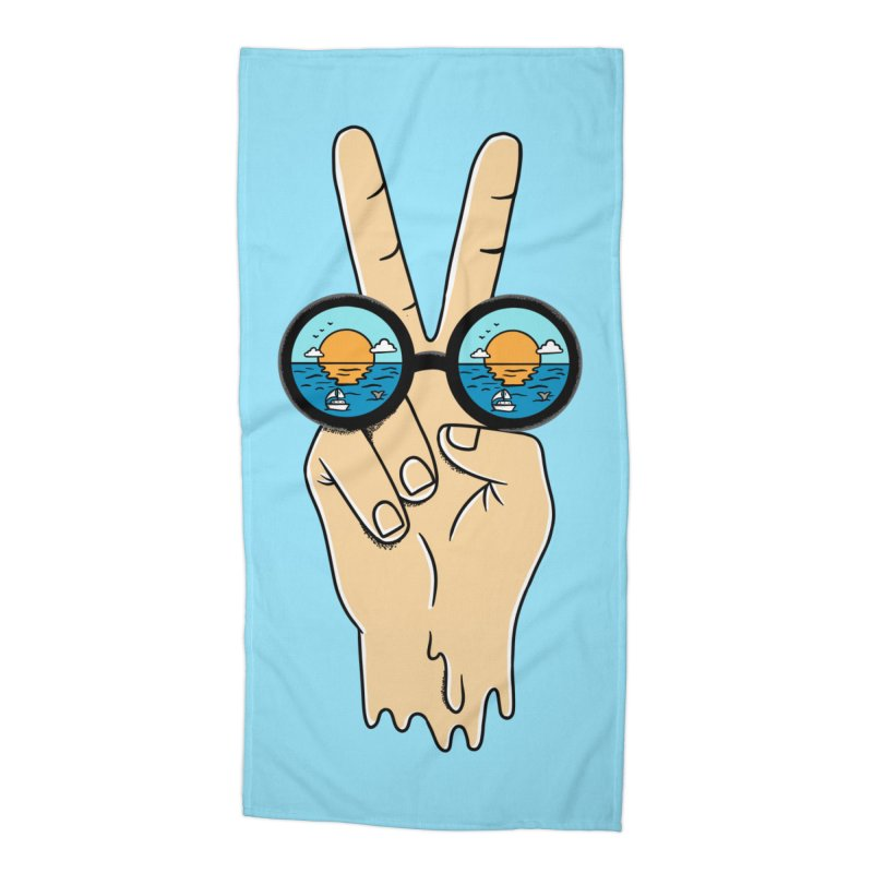 Beach peace and love Accessories Beach Towel by coffeeman's Artist Shop