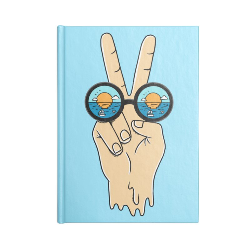 Beach peace and love Accessories Blank Journal Notebook by coffeeman's Artist Shop