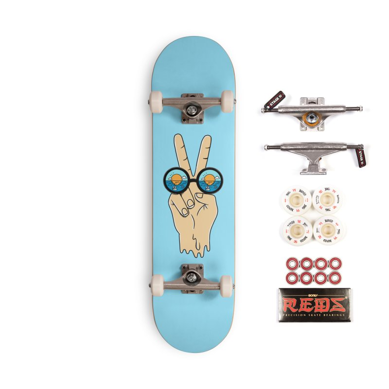 Beach peace and love Accessories Complete - Pro Skateboard by coffeeman's Artist Shop