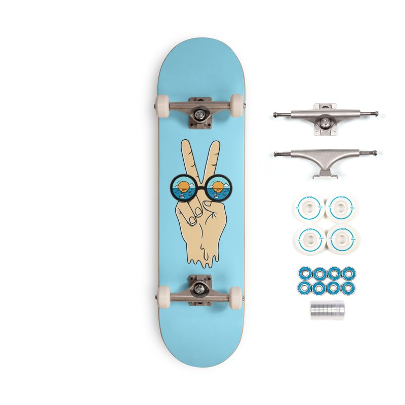 Beach peace and love Accessories Complete - Basic Skateboard by coffeeman's Artist Shop