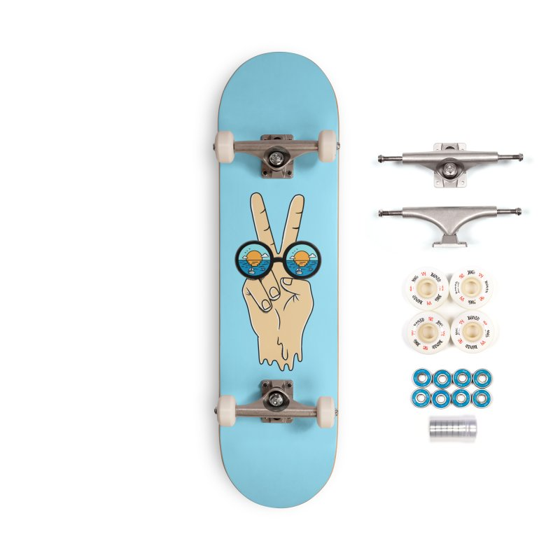 Beach peace and love Accessories Complete - Premium Skateboard by coffeeman's Artist Shop