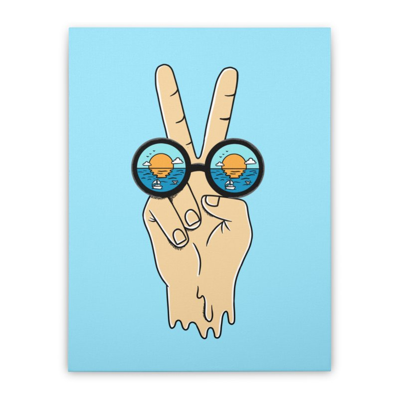 Beach peace and love Home Stretched Canvas by coffeeman's Artist Shop