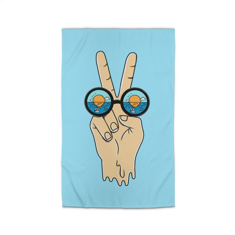 Beach peace and love Home Rug by coffeeman's Artist Shop
