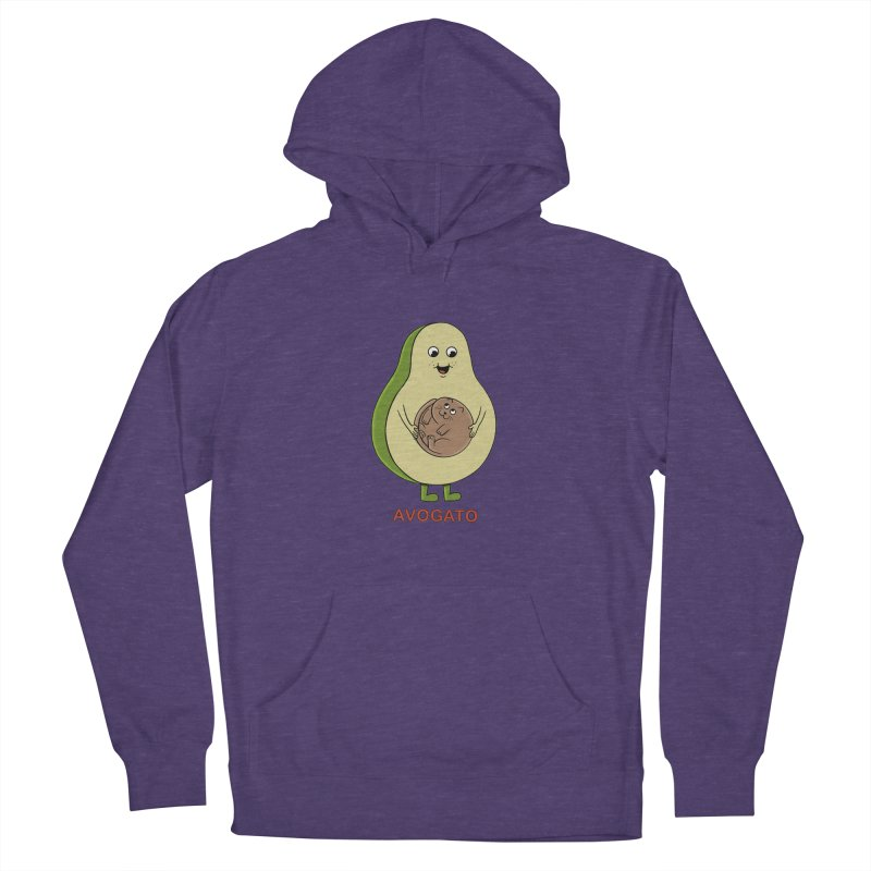 Cat Avocado Women's French Terry Pullover Hoody by coffeeman's Artist Shop