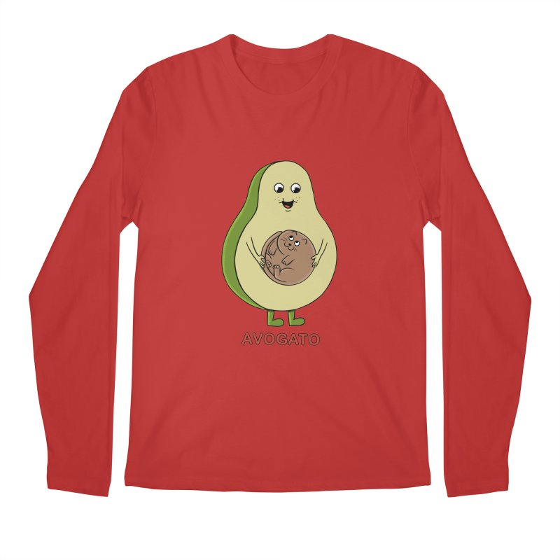 Cat Avocado Men's Regular Longsleeve T-Shirt by coffeeman's Artist Shop