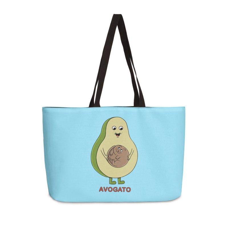 Cat Avocado Accessories Weekender Bag Bag by coffeeman's Artist Shop
