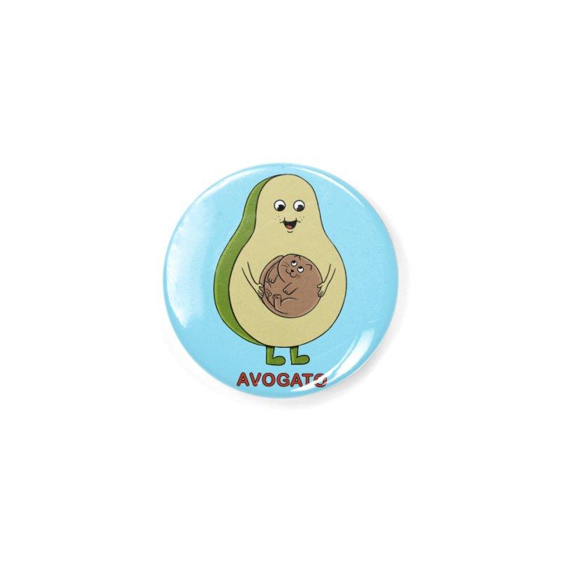 Cat Avocado Accessories Button by coffeeman's Artist Shop