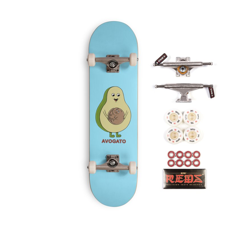 Cat Avocado Accessories Complete - Pro Skateboard by coffeeman's Artist Shop