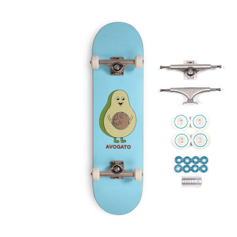 Cat Avocado Accessories Complete - Basic Skateboard by coffeeman's Artist Shop