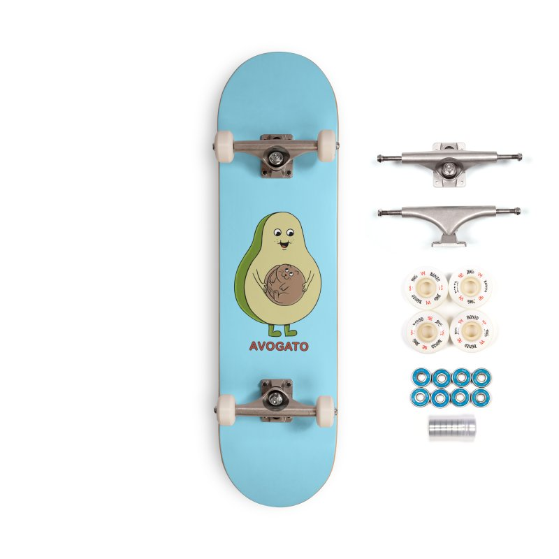 Cat Avocado Accessories Complete - Premium Skateboard by coffeeman's Artist Shop