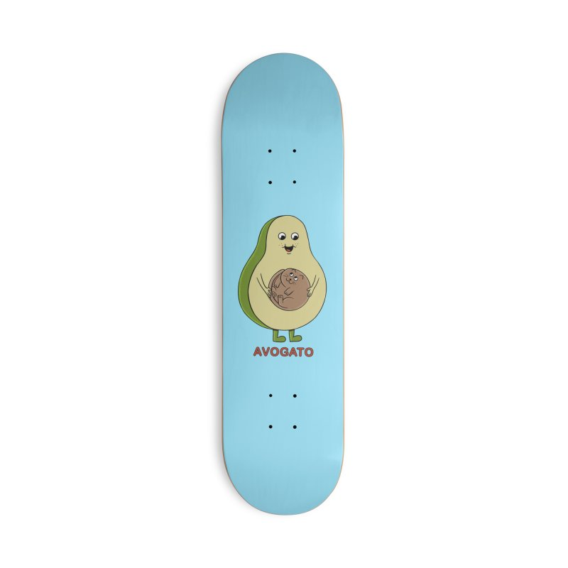 Cat Avocado Accessories Deck Only Skateboard by coffeeman's Artist Shop