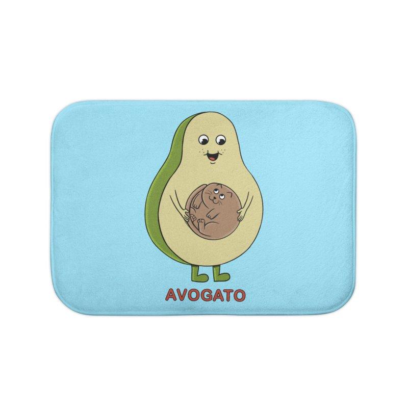 Cat Avocado Home Bath Mat by coffeeman's Artist Shop