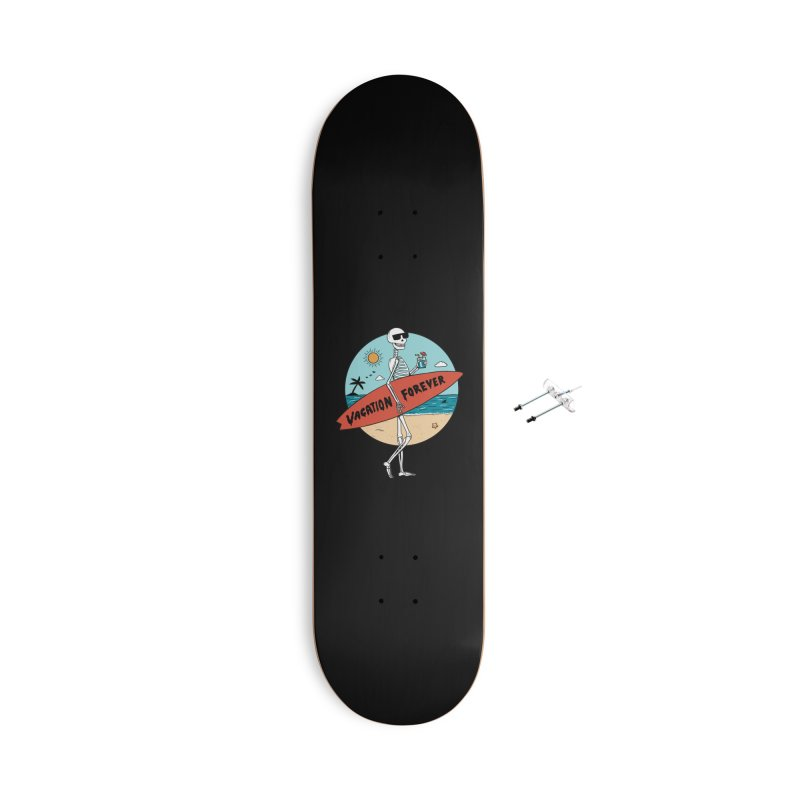 Skull Accessories With Hanging Hardware Skateboard by coffeeman's Artist Shop